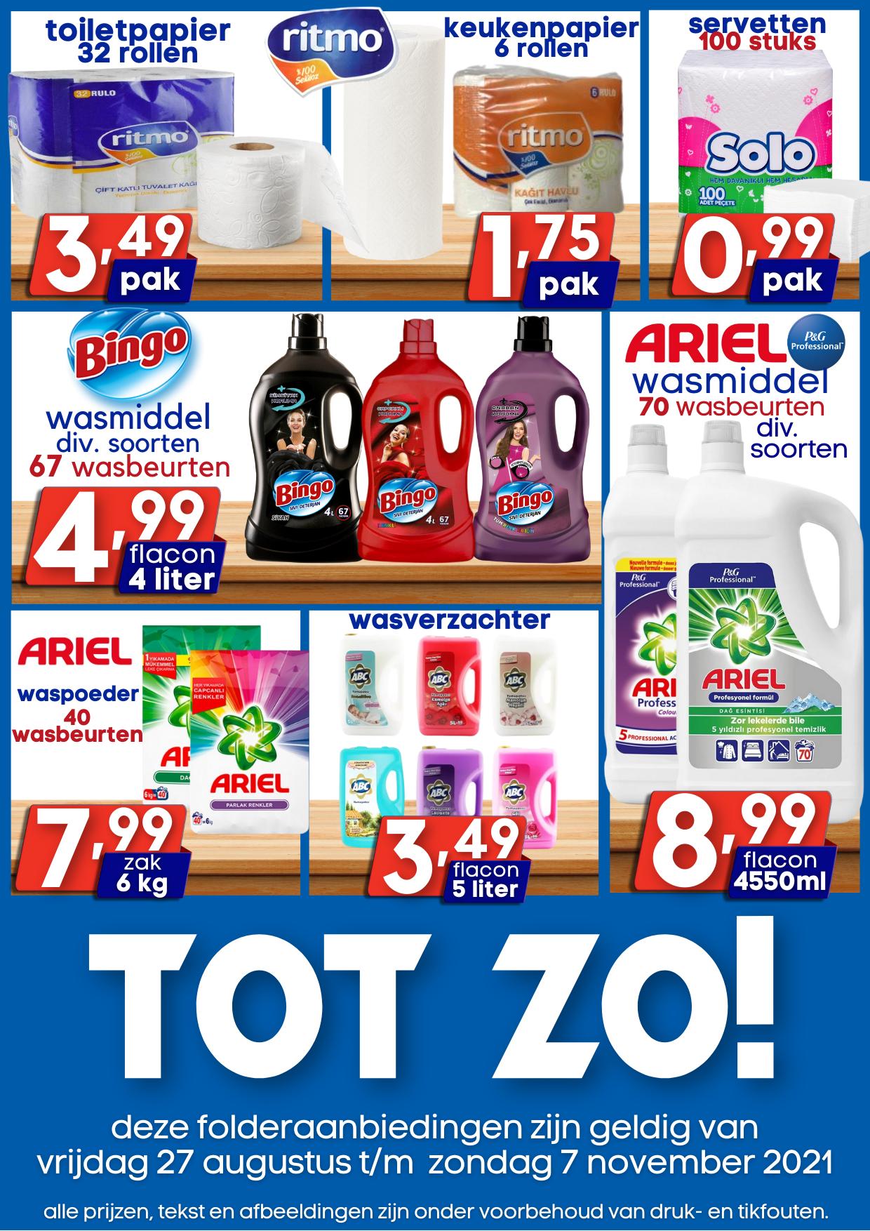 Slagerij aanbiedingen Özbaktat Supermarkt Apeldoorn